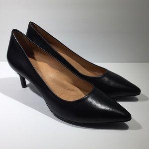 Antonio Melani Elynda Black Leather Pump Heels 9M